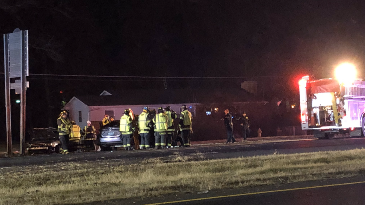 Eastbound Pulaski Highway shut down due to crash with multiple patients