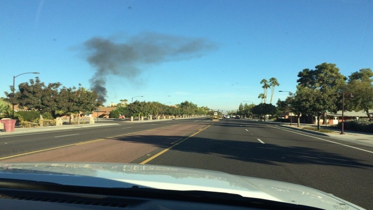Large tractor fire burns in east Valley