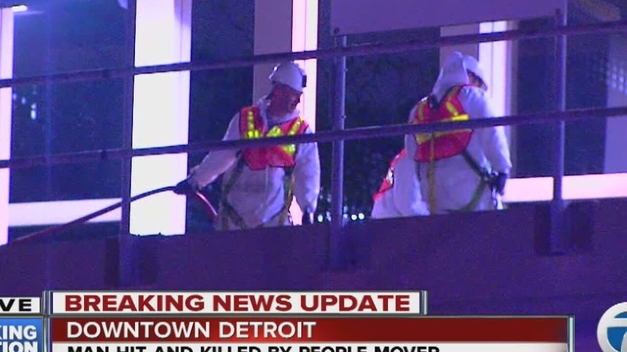 Man dies after being hit by the People Mover