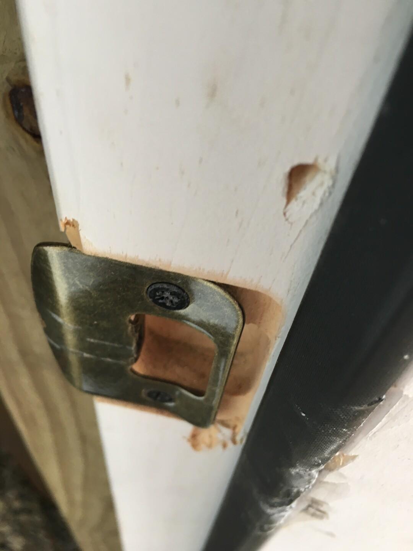 Damage to garage door