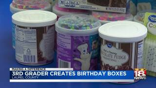 Making A Difference: 3rd-Grader Creates Birthday Boxes