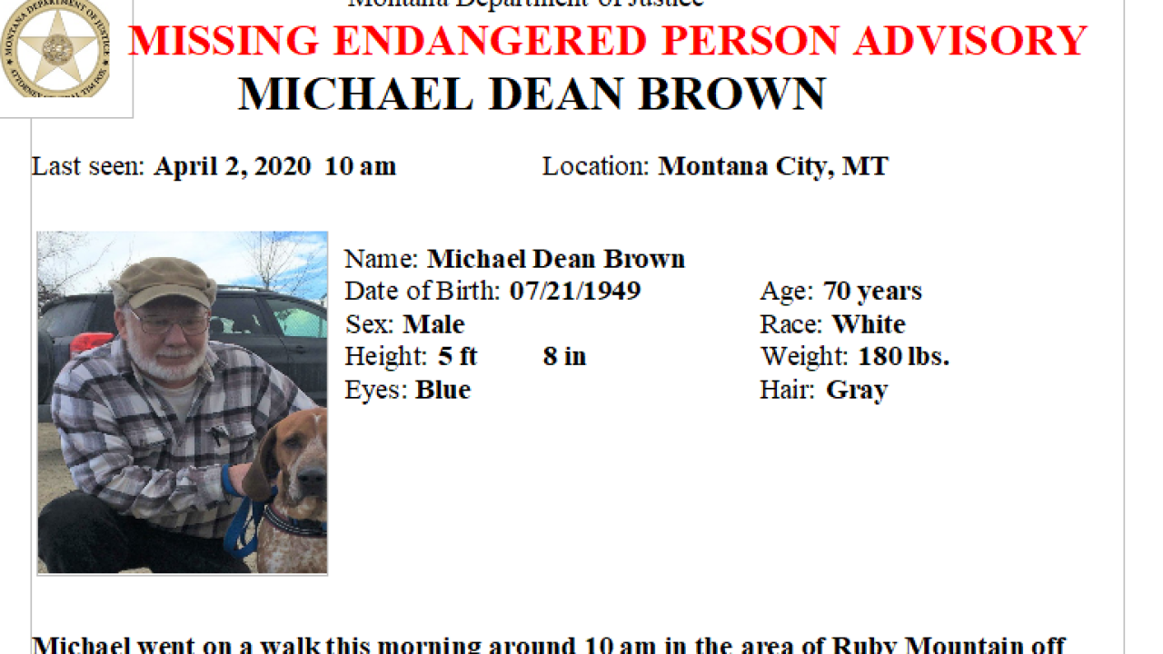 Missing/Endangered Person Advisory issued for Montana City man