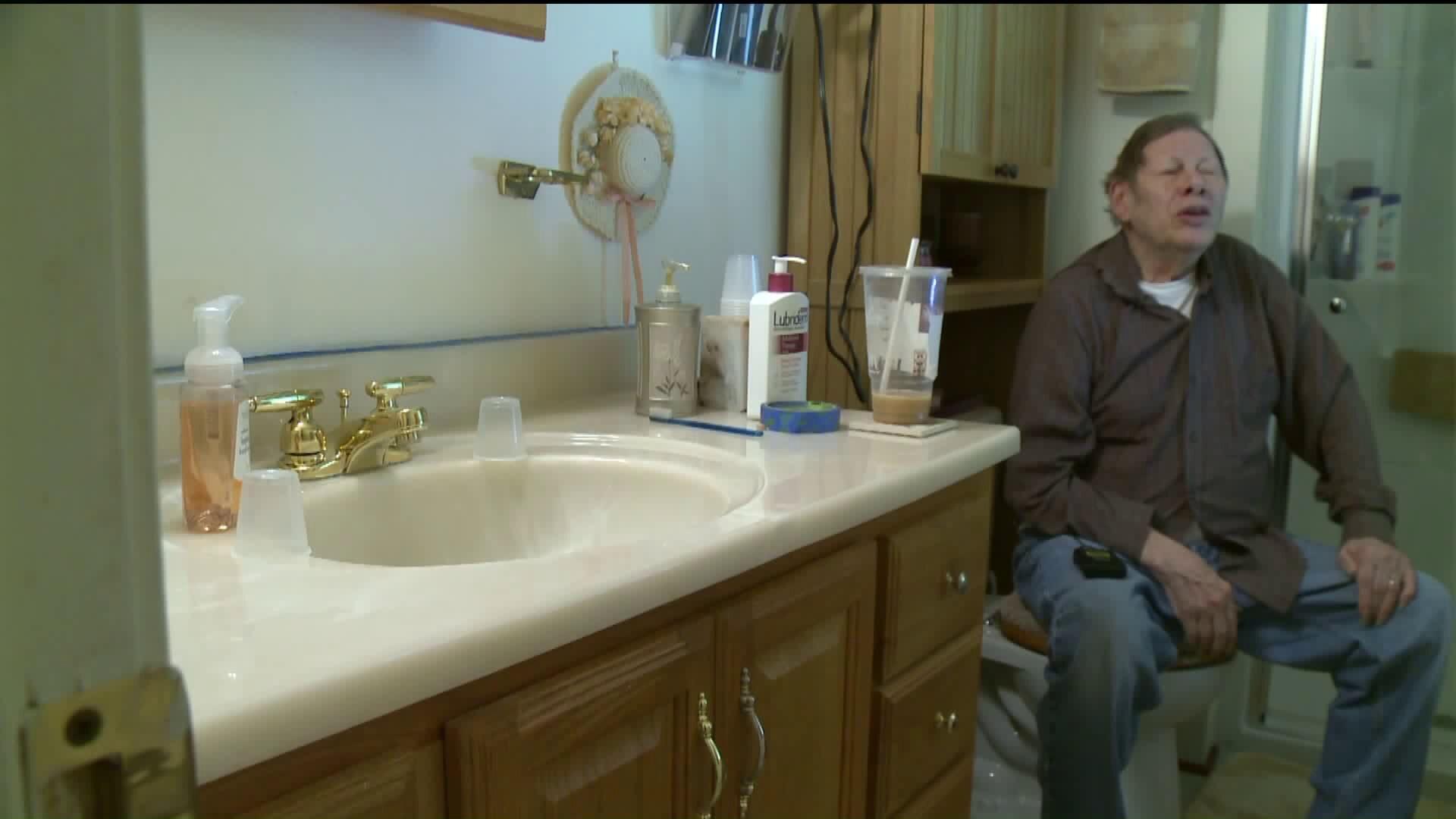 Photos: Midlothian man sees Donald Trump in bathroom floortile