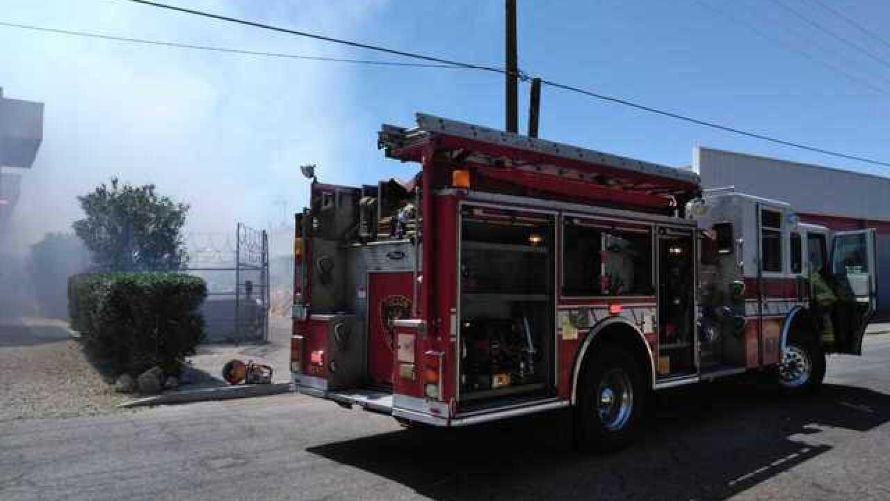 Speedway Naughton's catches fire
