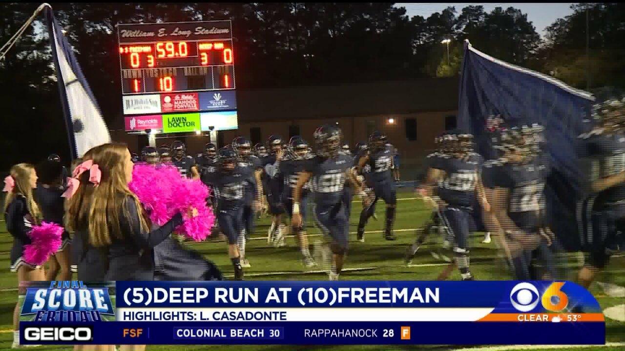 Deep Run stays undefeated with 29-6 win overFreeman