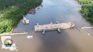 Sinking of Bayou Chene barge to be completed Wednesday