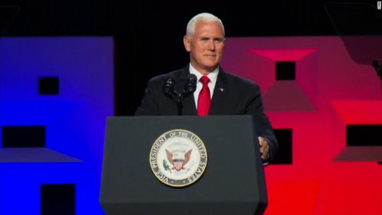 Pence accused of 'hijacking' evangelical meeting