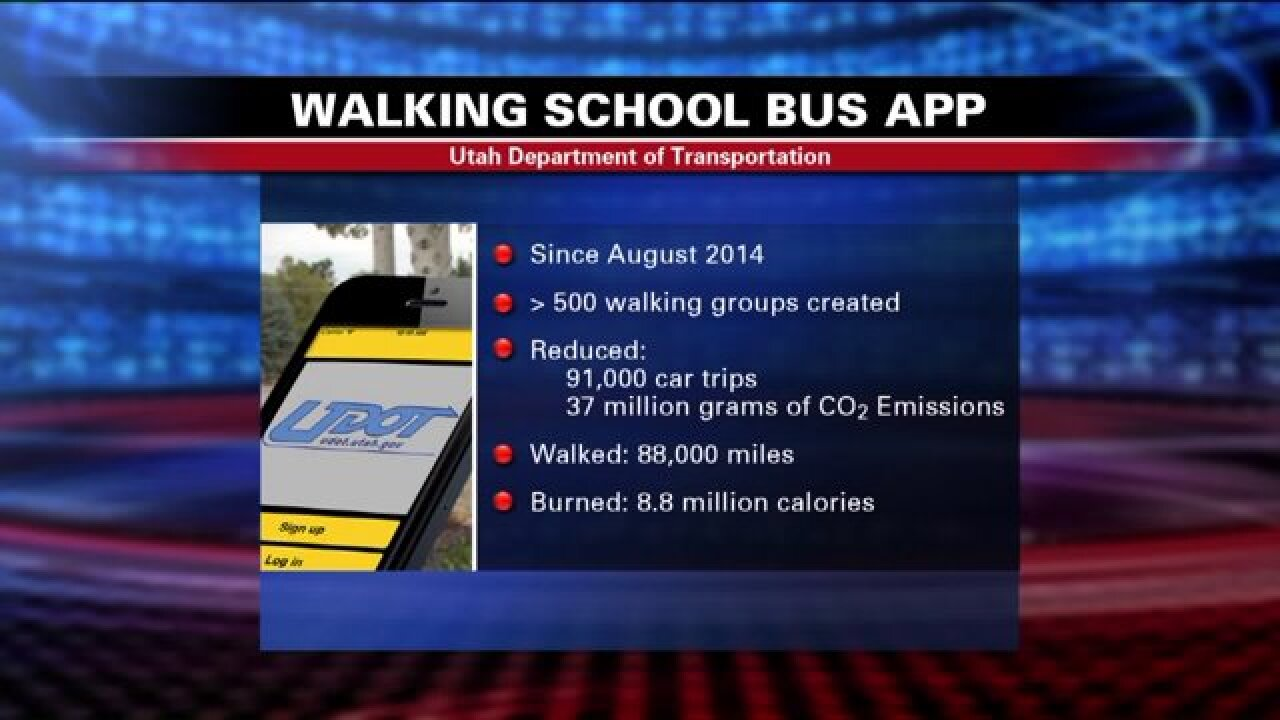 UDOT aims to reduce pollution, increase child safety and exercise with 'Walking School Bus' app