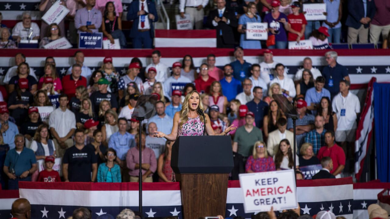 Lara Trump speaks at Donald Trump rally