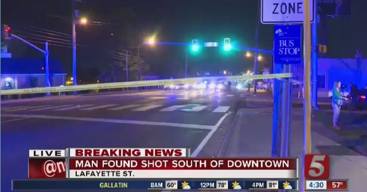 Man critically injured in shooting south of Downtown Nashville