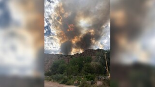 YMCA Fire burning west of Canon City