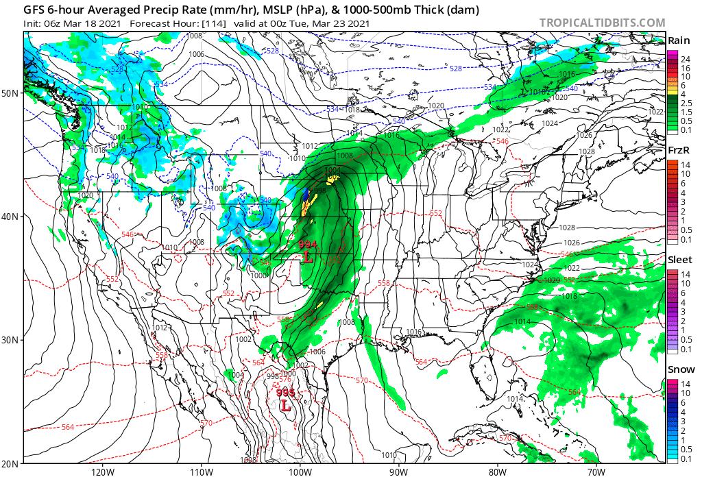 Surface Forecast Valid Monday Evening