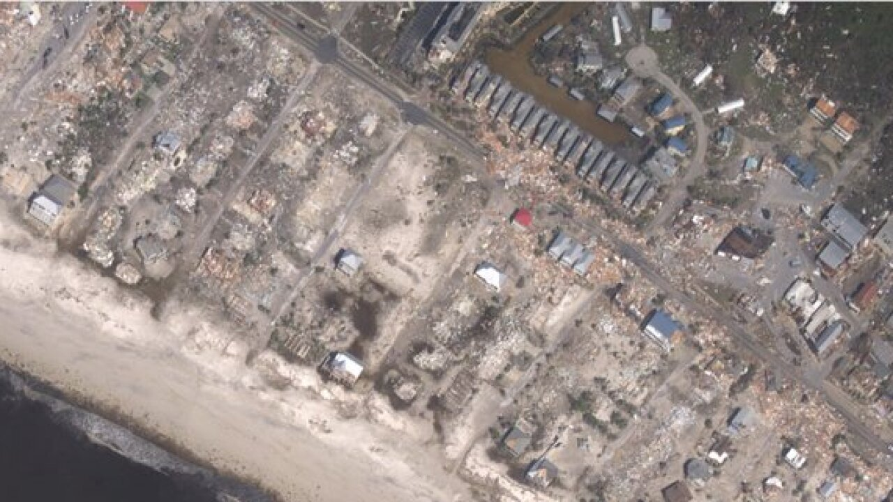Hurricane Michael: Before and after images
