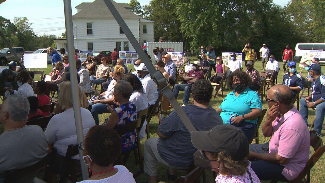 Community meeting on Jefferson Street Cap