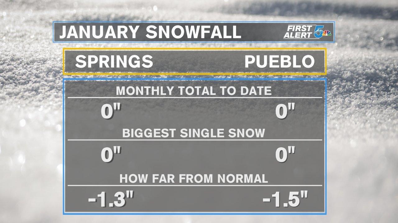 January snowfall summary