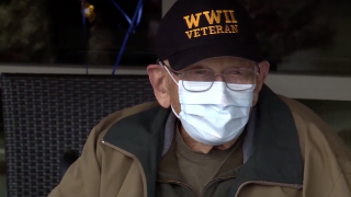 WWII veteran recovers from COVID-19 in time to celebrate 104th birthday