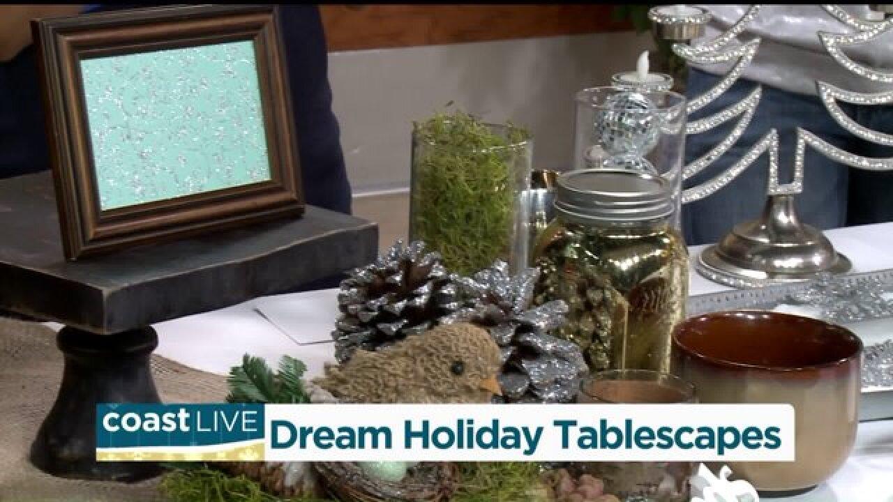 """A designer's take on a sparkling """"tablescape"""" on CoastLive"""