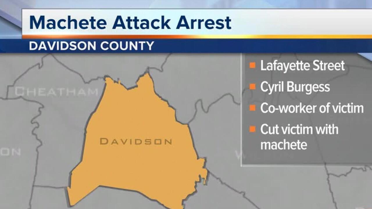 Arrest made in Nashville machete attack