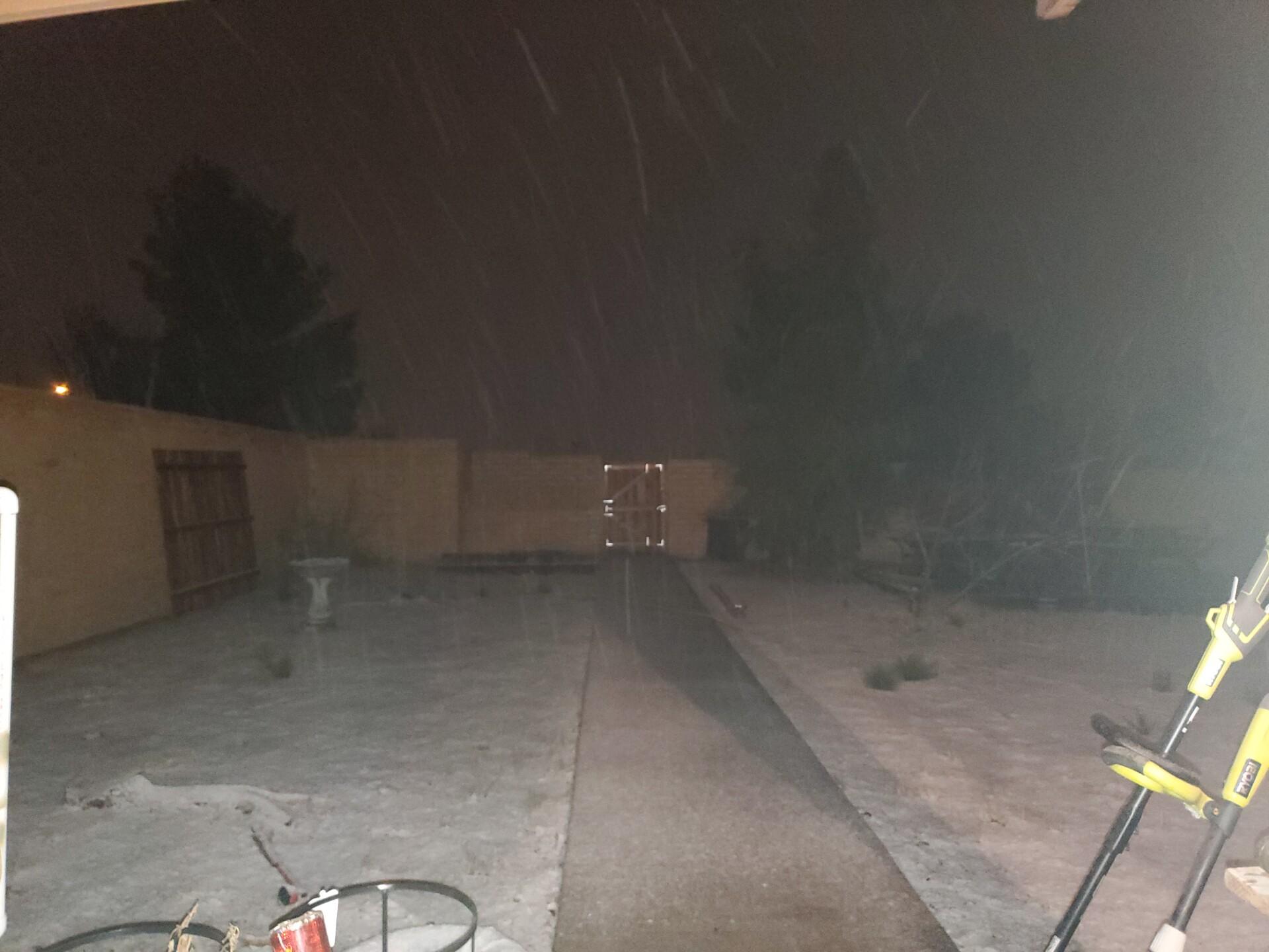 Snow in San Manuel