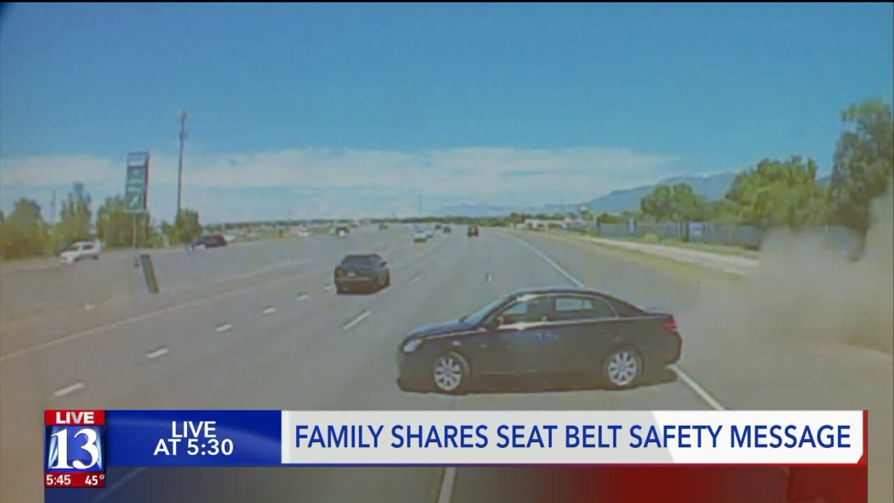 Utah family says seat belts saved their lives; urges drivers to buckle up
