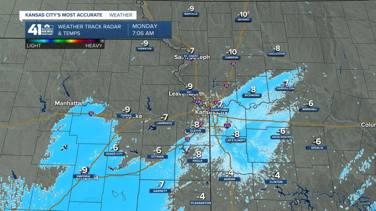 SNOW IS MOVING NORTHEAST