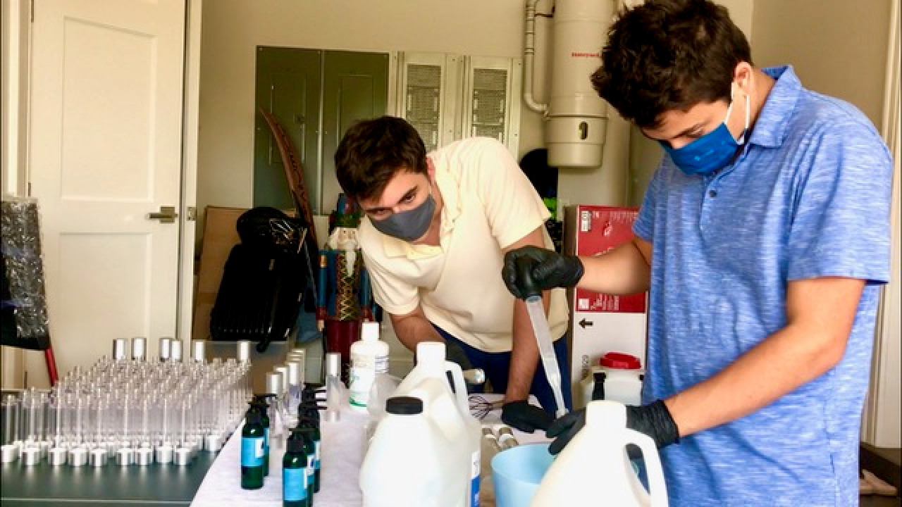 Two Boca Raton high school seniors are donating more than $1,000 from their new business venture to support a much-needed resource for the Palm Beaches and Treasure Coast.