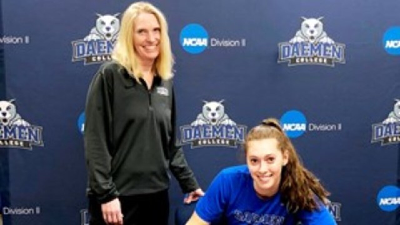 Daemen's Sarah Saba signs first professional contract