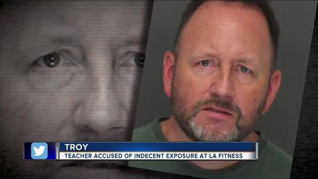 Teacher arrested for indecent exposure at gym