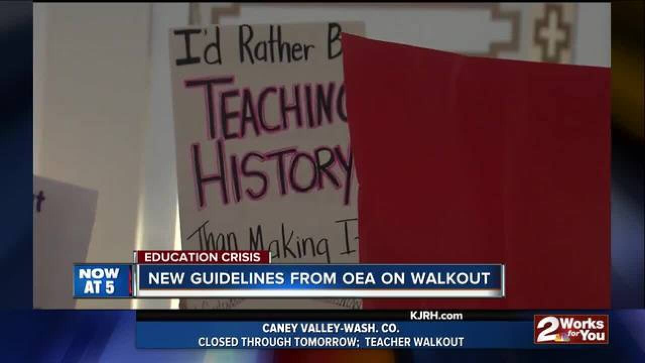 Day two of teacher walkout at the Capitol