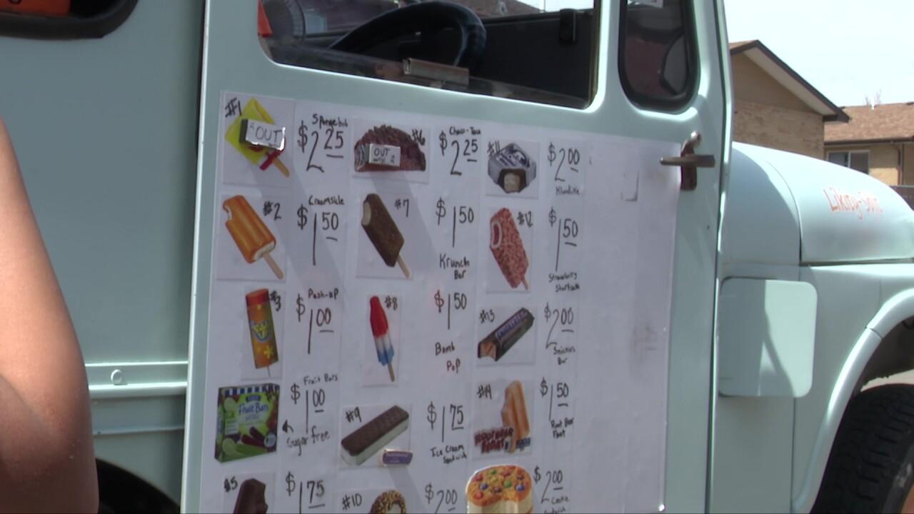 Likity-split ice cream truck gets a jump-start on summer treats