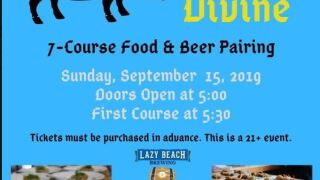 Food and beer pairing at Lazy Beach Brewing this weekend