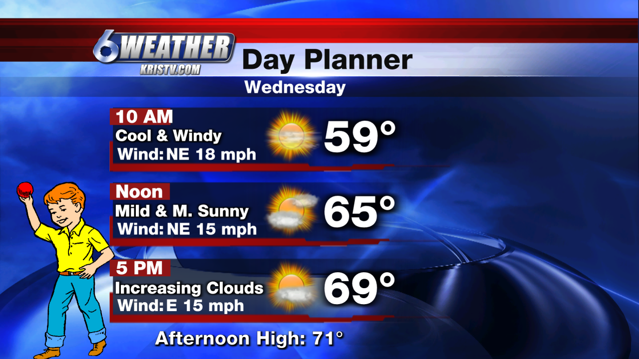 6WEATHER Wednesday Day Planner