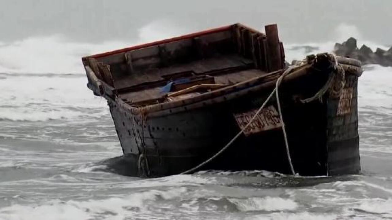 A ghost ship with seven bodies on board washed up on Japan's shore
