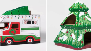 Target Has Cute New Holiday Cat Houses