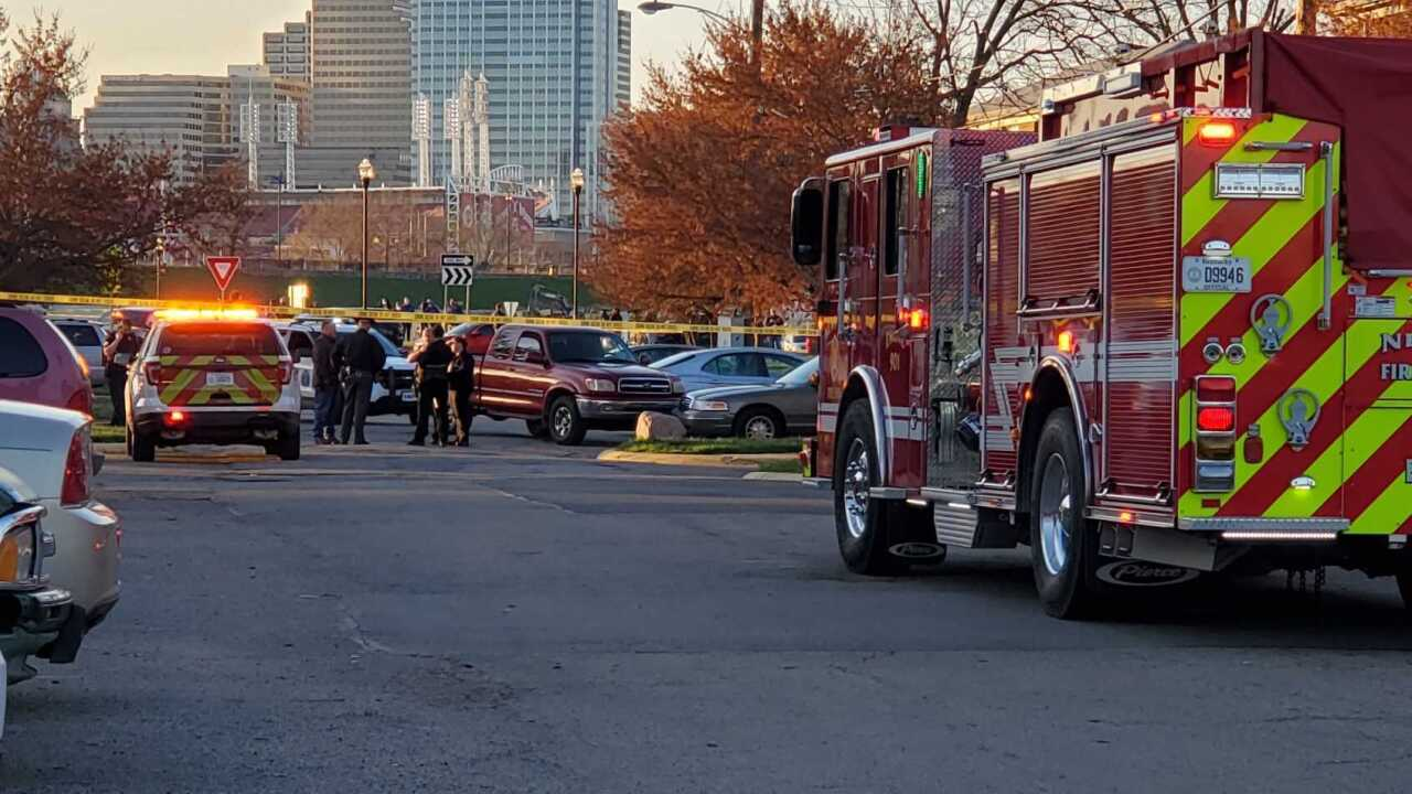 Red truck involved in Newport Police Shooting.jpg