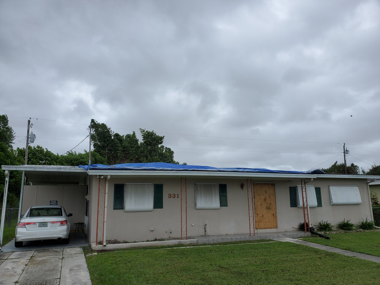 Roxana Hodge of Port St. Lucie suffered roof damage due to Isaias.