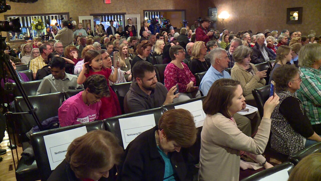 Hundreds pack fiery town hall meeting with Congressman Dave Brat