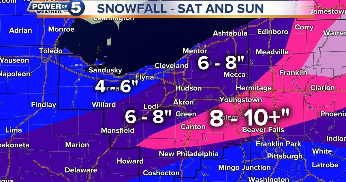 Winter storm will bring heavy snow across Northeast Ohio