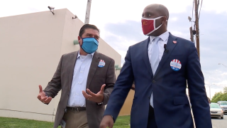 Beto Lopez and Mayor Quinton Lucas