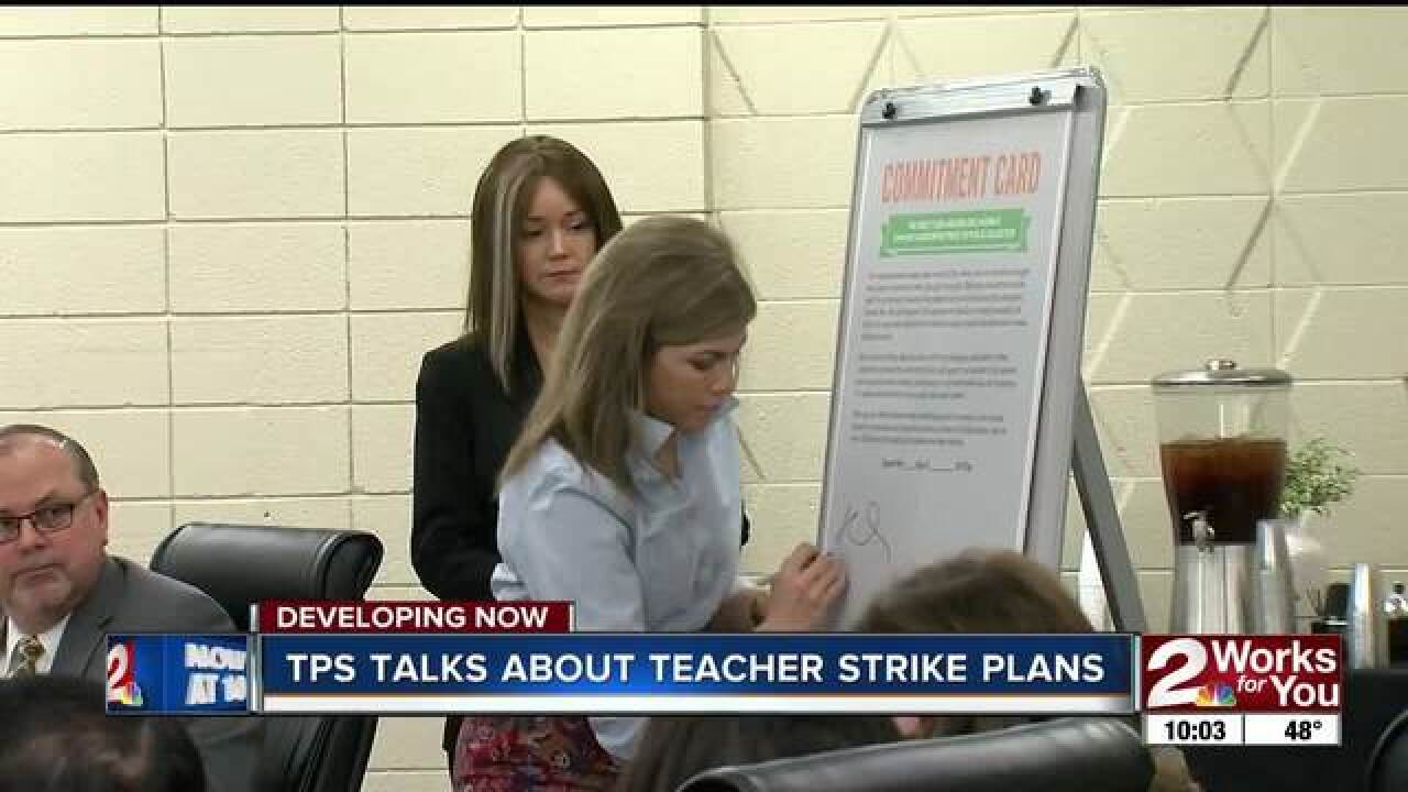 TPS board talks protest plan for teachers