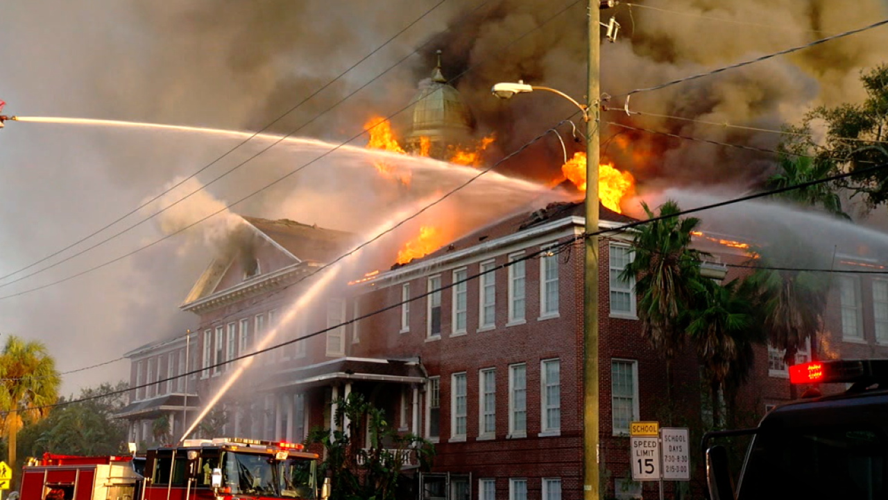 Lee Elementary School fire