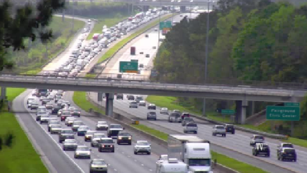 Car accident caused traffic back up on I-10