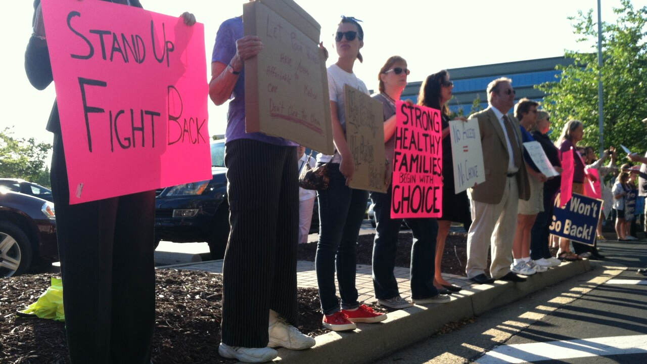 Protest held over abortion clinic regulations