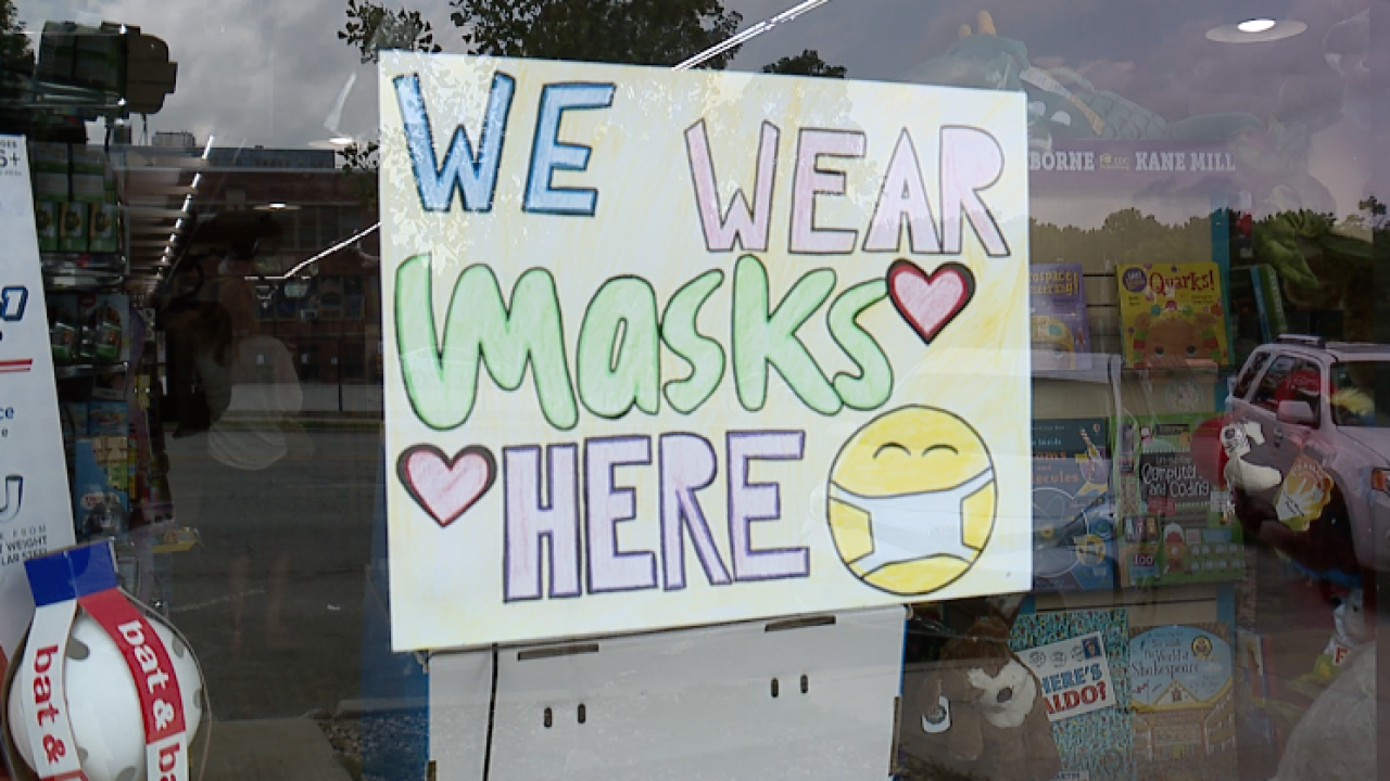 Brookside Toy & Science mask requirement