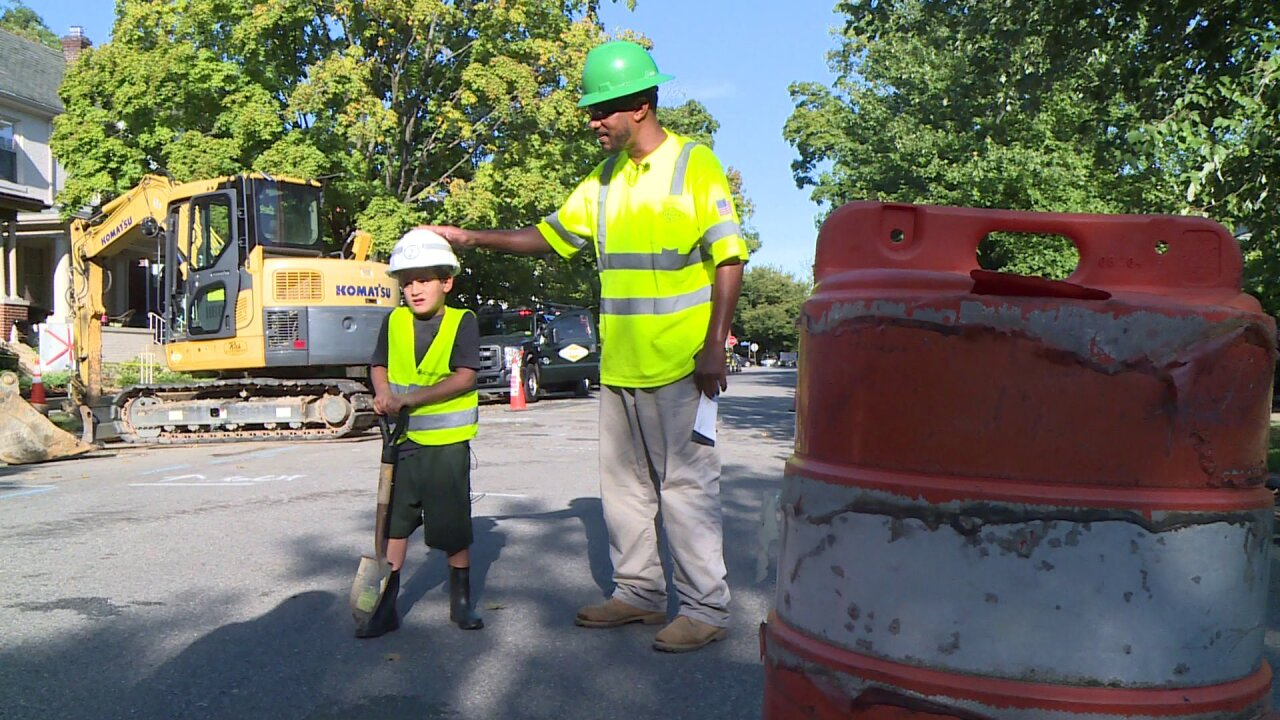 Wait til you see how construction workers made boy's dream cometrue