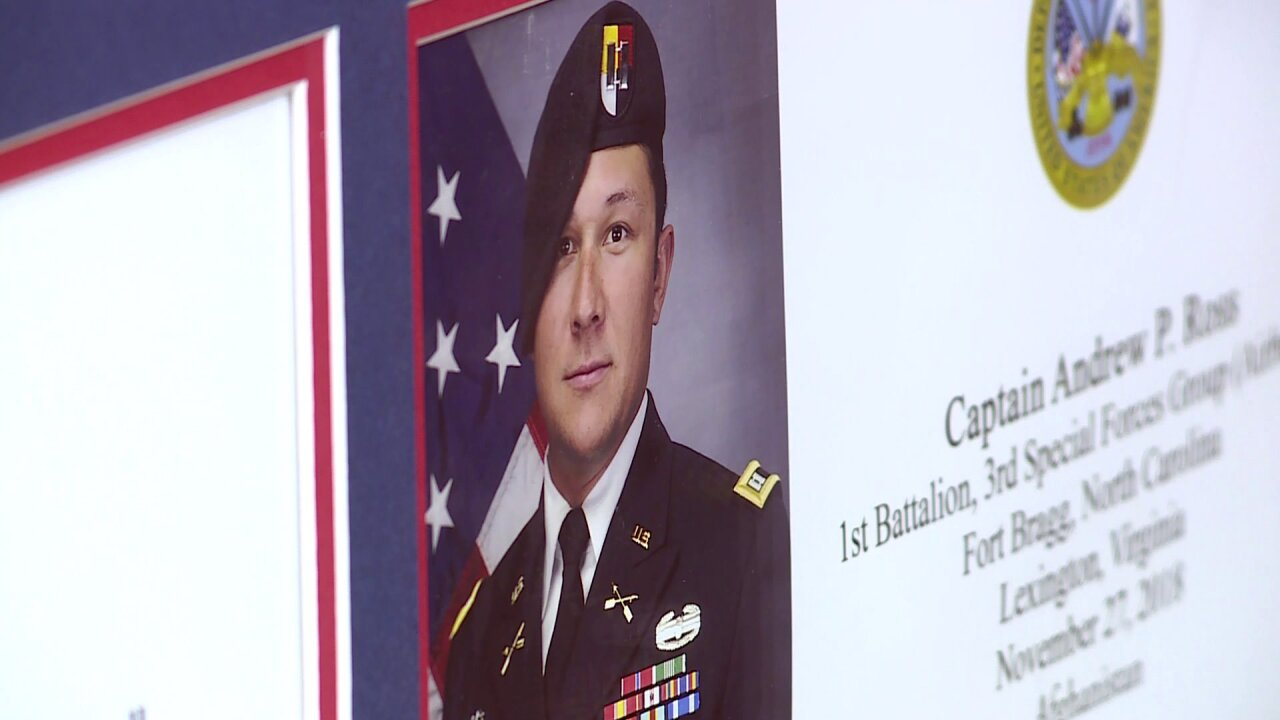 Virginia Army Captain Andrew Ross added to Virginia War Memorial's Wall ofHonor