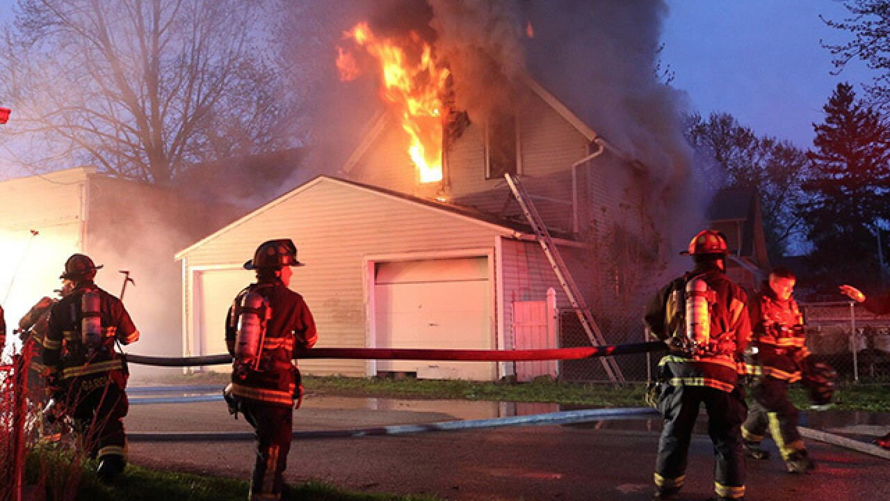Home totally destroyed in Elyria house fire Sun.