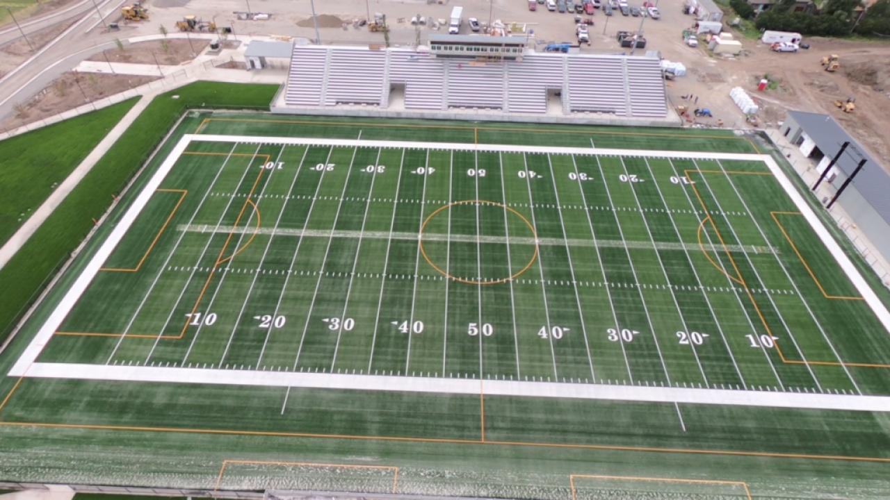Inside look at Bozeman's new turf stadium