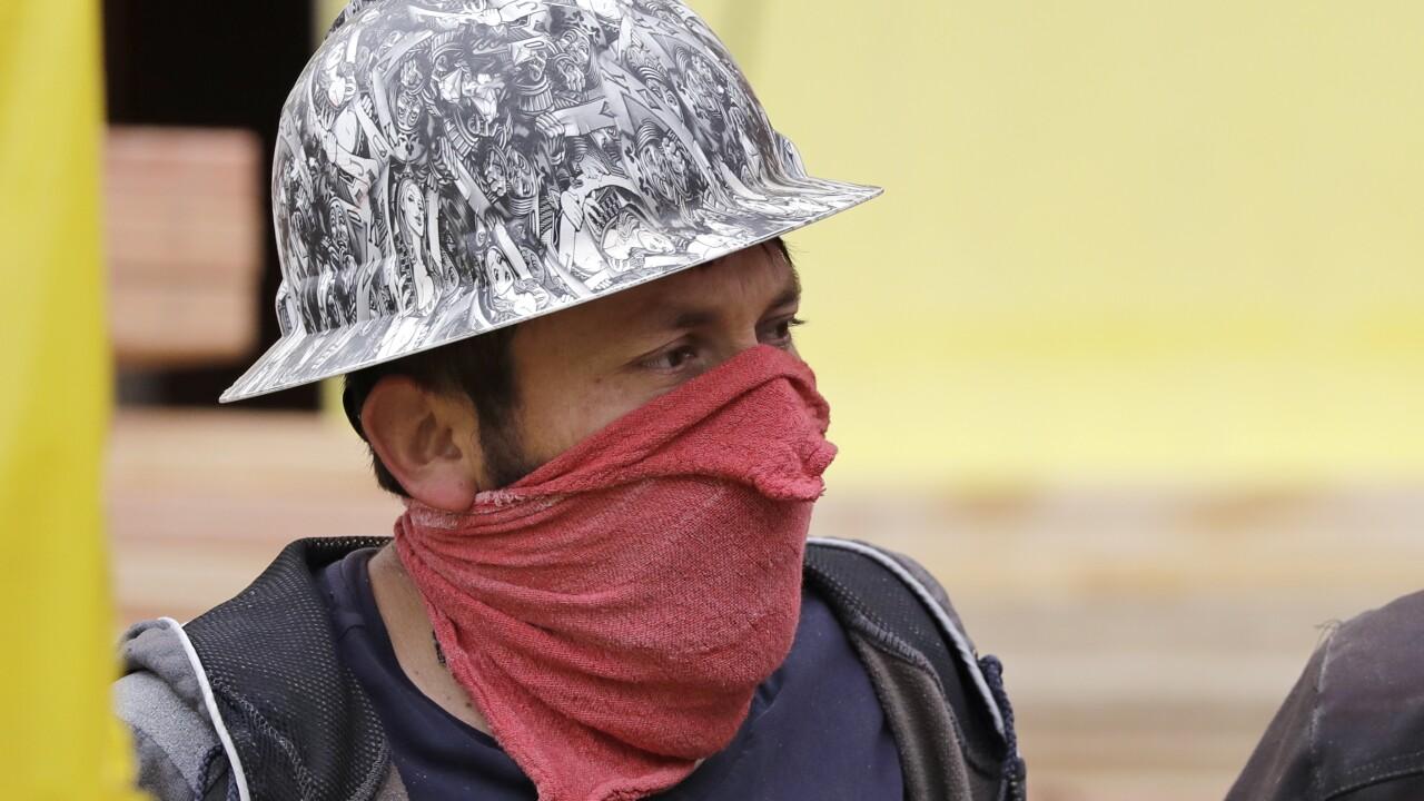 man wearing mask AP