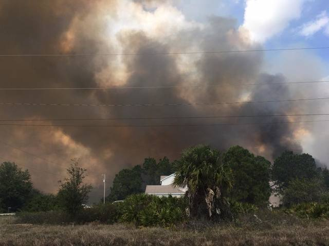 Multiple brush fires in Lehigh Acres cause evacuations